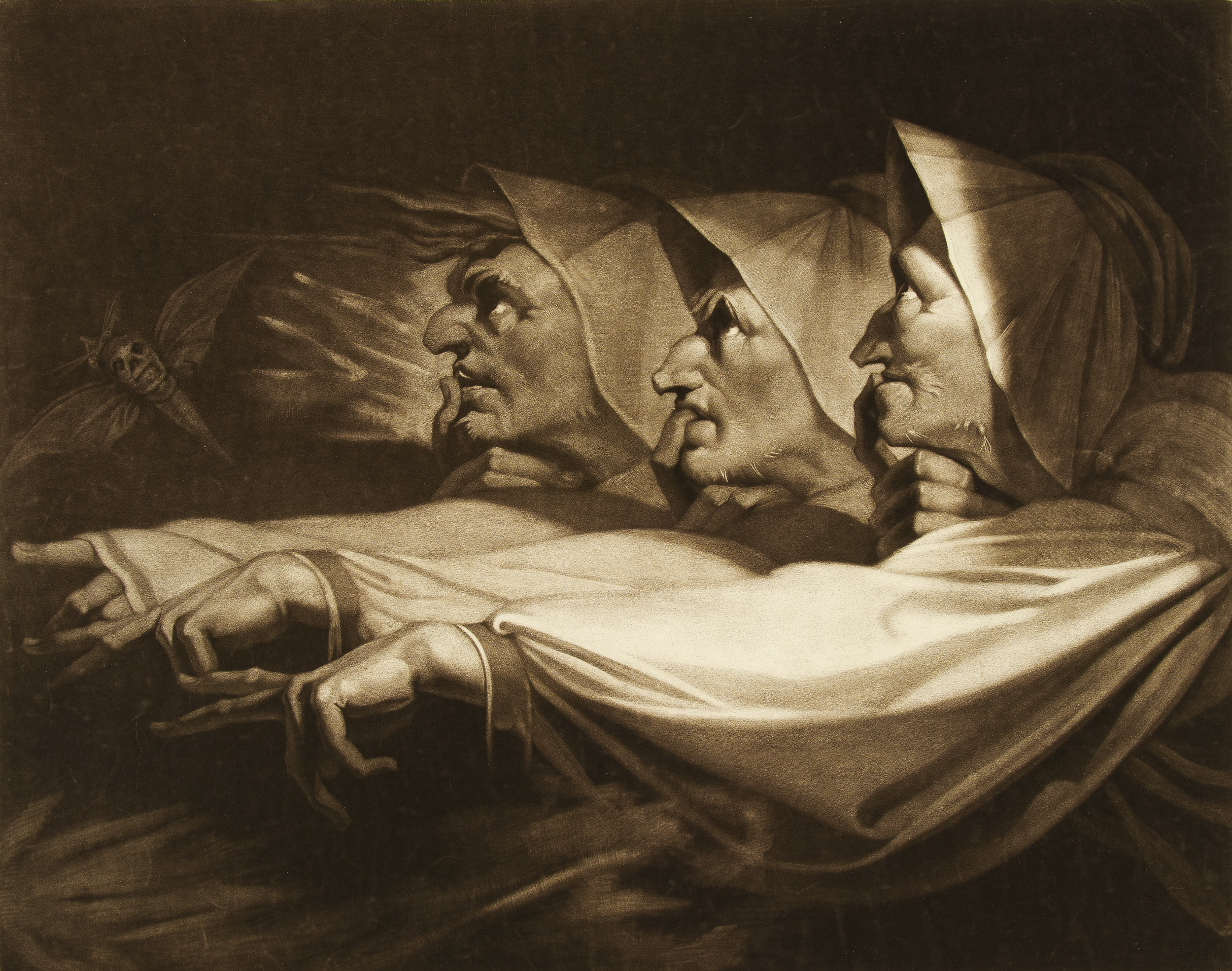 Fuseli, Three Weird Sisters from Macbeth, Gothic Fantasy