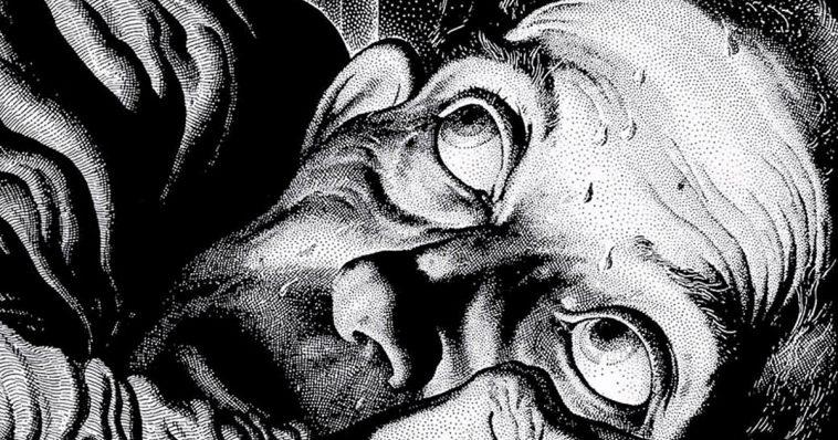 Virgil Finlay's epic illustration for Poe's Tell Tale Heart